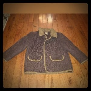 Gymboree boys brown corduroy barn jacket coat